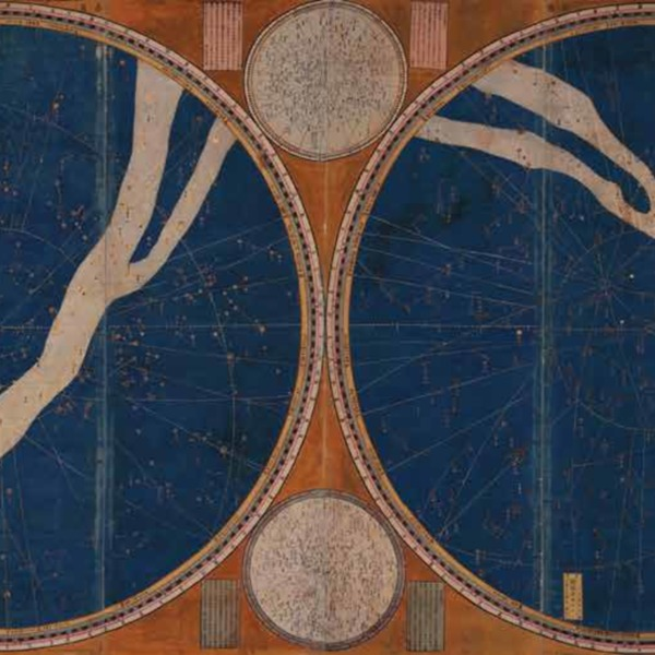 """The Double Stellar Hemisphere or the star map created by renowned Chinese scholar Xu Guangqi, and German missionary, Johann Adam Schall von Bell.""<br />"