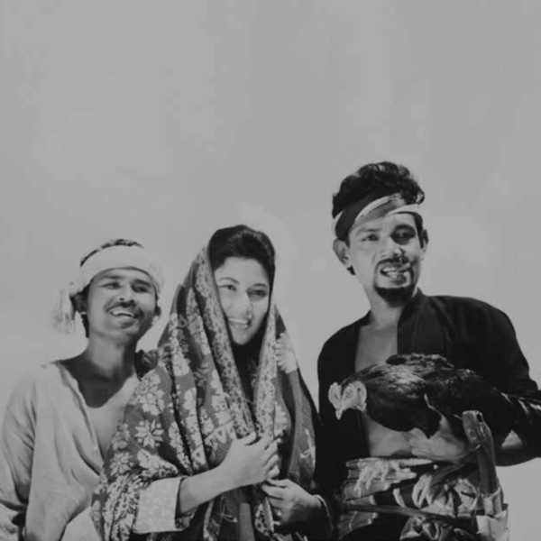A scene from 'Chuchu Datok Merah', a black-and-white Malay film directed by M. Amin in 1963<br />