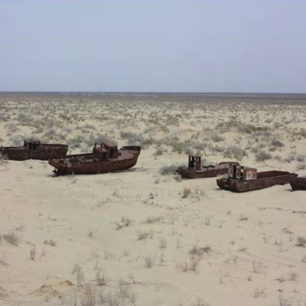 The Aral Sea is drying up(Credit: Arian Wagers)<br />