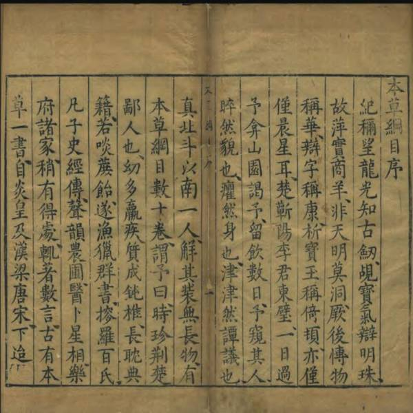The preface of Ben Cao Gang Mu (Compendium of Materia Medica)<br />